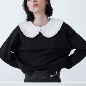 Zara Peter pan collar sweatshirt